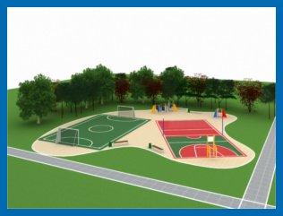 Проект детской площадки, проект спортивной площадки.