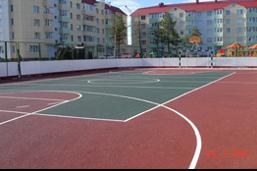 Резиновое покрытие для спортивной площадки